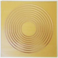 Gráfico 9 Circulos - Inscrição em Cobre 7x7cm
