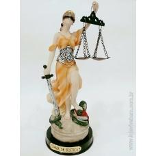 Dama da Justiça em Resina - Colorida - Vários Tamanhos