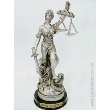Dama da Justiça em Resina - Prata - Vários Tamanhos