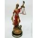 Dama da Justiça em Resina - Vermelho e Dourado - Vários Tamanhos