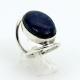 Anel de Prata 925 com Lápis Lazuli Ref.DJ:B0641