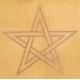 Gráfico Estrela de Cinco Pontas - Inscrição em Cobre 7x7cm
