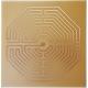 Gráfico Labirinto D'Amiens - Inscrição em Cobre 7x7cm
