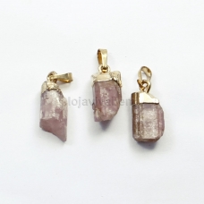 Pingente de Pedra Natural Turmalina Rosa Ref.PN:P0041