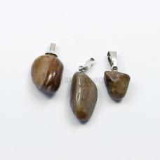 Pingente de Pedra Natural Jaspe Madeira Ref.PN:P0056