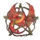 Estatueta de Dragão com Pentagrama 32cm - Resina